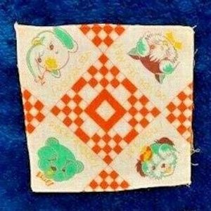 Vintage handkerchief Hide and Seek animals colorfu